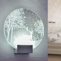 الحديثة الحد الأدنى غرفة نوم الإبداعية وحدة إضاءة Led جداريّة مصباح غرفة المعيشة الإضاءة Led الشمعدان داخلي لوفت مرآة الجدار الخفيفة