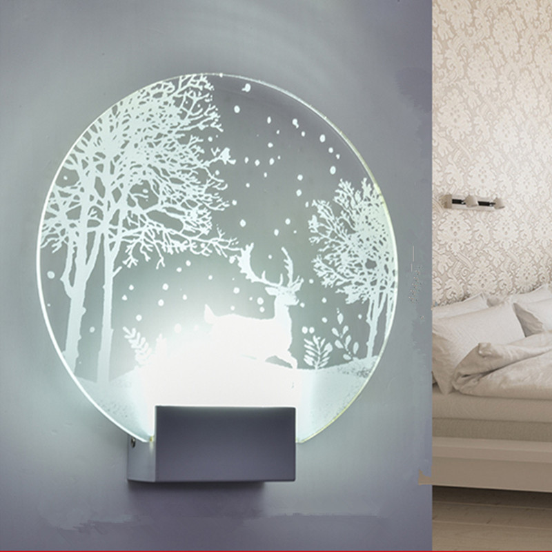 Modern Minimalist Bedroom Creative Led Wall Lamp Living ... on Wall Lighting For Living Room id=97509
