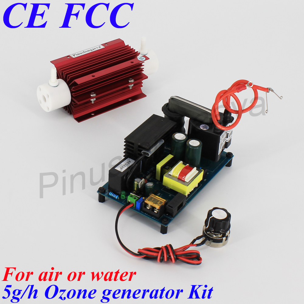 Pinuslongaeva 5G/H 5grams adjustable Quartz tube type ozone generator Kit ozone tube transformer for ozone generator air water Air Purifiers     - title=