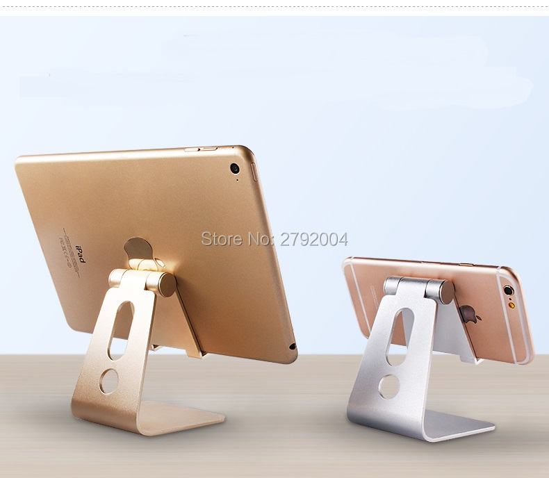 10pcs/lot Universal Aluminum Metal Mobile Phone Tablet Desk Holder Stand for iPhone 7 /7 Plus 6s 6 5s 5 Cellphone for  Ebook