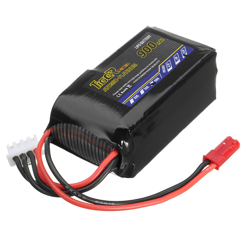 все цены на 2017 Newest Tiger Power 11.1V 900mAh 60C 3S Lipo Battery JST Plug For RC FPV Racing Drone Quadcopter Spare Parts Accessories онлайн