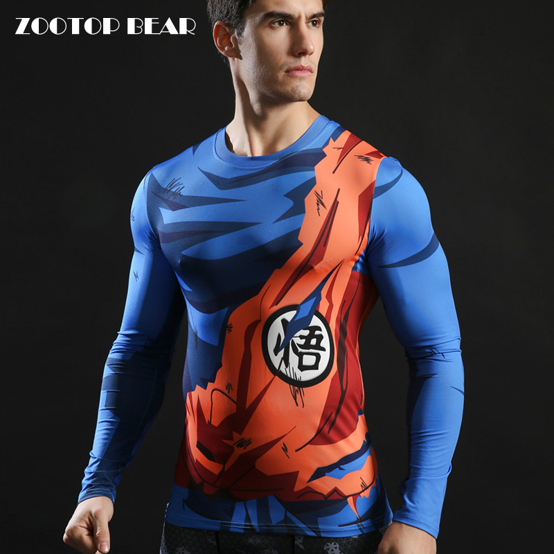 Dragon Ball Z Tops Goku 3D Printed Tshirts Compression Tights T-shirts 2017 Novelty Fitness Camiseta Crossfit Tees ZOOTOP BEAR