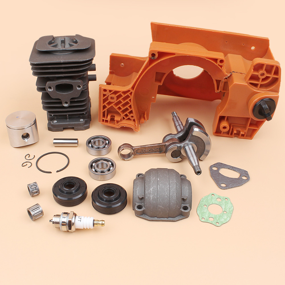 Piston Motor Parts Crancase Oil Engine Kit Cylinder Crankshaft 142 Chainsaw Bearing 137 HUSQVARNA For Pan Spare Seal