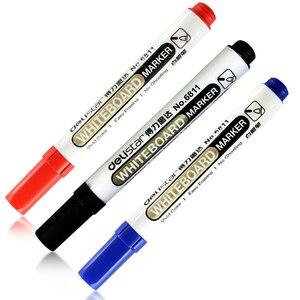 Image 4 - 1 takım/2 adet beyaz tahta marker beyaz tahta işaretleyici siyah kuru silme silgi İşaretleyiciler kalem kalemler pürüzsüz yazma mavi siyah ve kırmızı