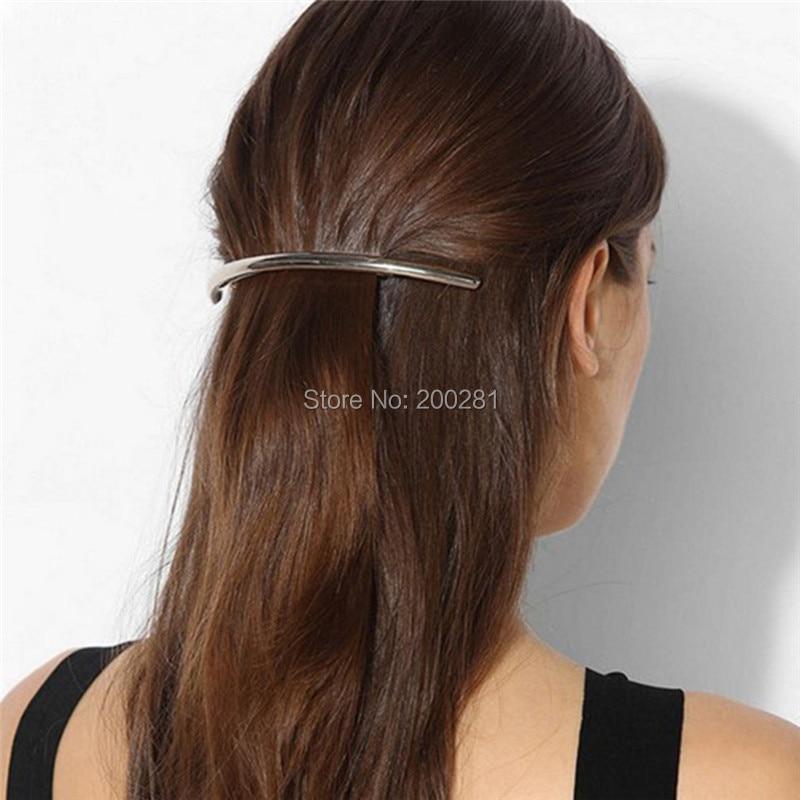 Frauen Modische Haarspange Haarnadeln Biegen Metall Gold Silber ...