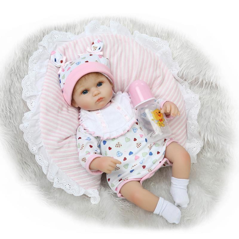 ФОТО 45cm 3 Type Handmade Silicone Vinyl Reborn Baby Dolls Best Xmas Gift for Little Children Toys Baby Reborn Doll