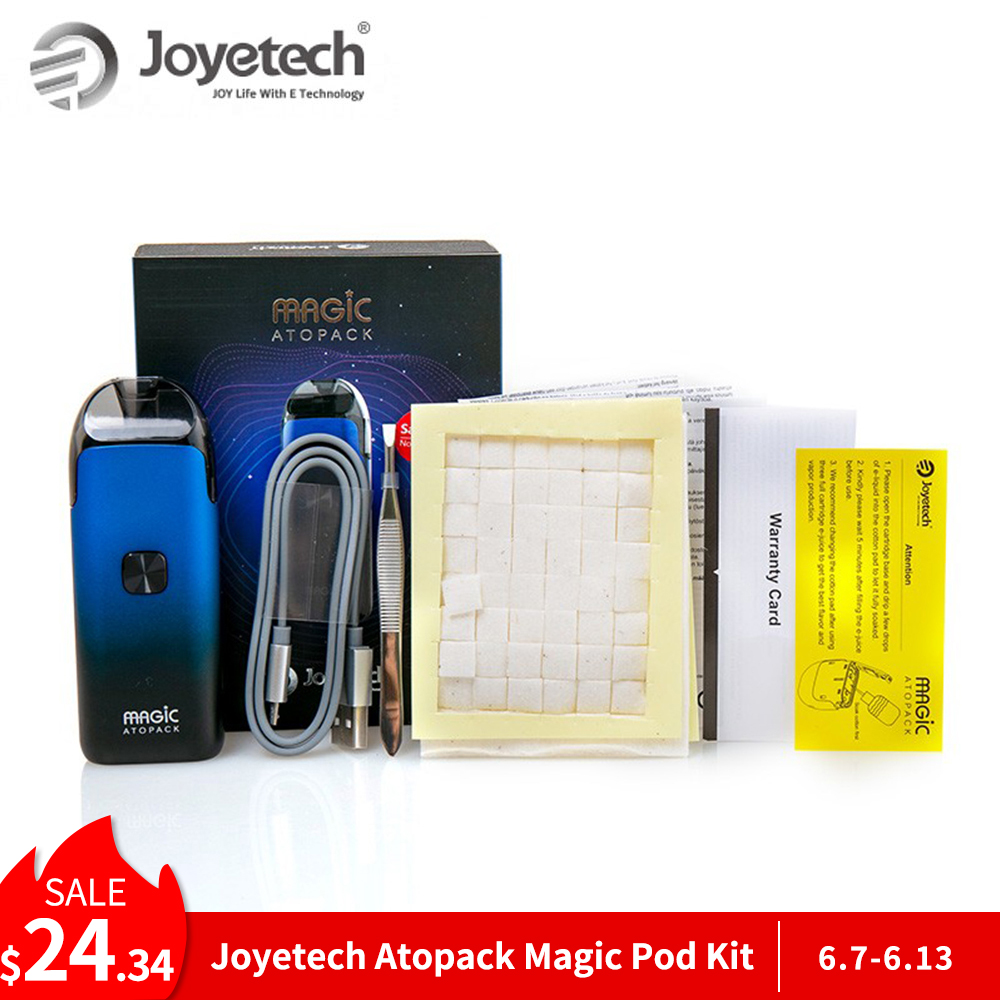 Original Joyetech Atopack Magic Pod Kit Built-in 1300mAh Battery NCFilm Heater 7ml Pod Electronic Cigarette Pod VS Nord/novo KitOriginal Joyetech Atopack Magic Pod Kit Built-in 1300mAh Battery NCFilm Heater 7ml Pod Electronic Cigarette Pod VS Nord/novo Kit
