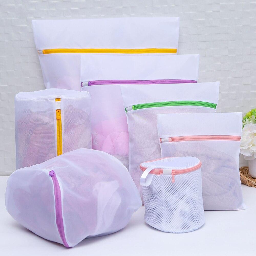 7pcs/Set New Lingerie Underwear Bra Nice Sock Laundry Washing Aid Net Mesh High Quality Zip Bag Rose Wholesale Free Shipping