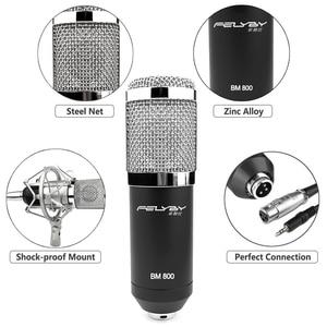 Image 3 - FELYBY BM 800 mikrofon kondensator mit soundkarte und webcam für computer studio aufnahme karaoke 800 mic
