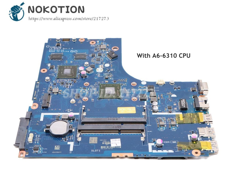 Nokotion 5b20g37213 Zawbb La-b291p For Lenovo N50-45 Laptop Motherboard A6-6310 Cpu Ddr3 Ati 8500m R4 Graphics