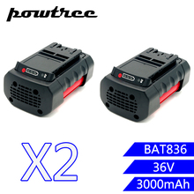 2PACKS 3000mAh 36V BAT836 Li-ion Rechargeable Battery for Bosch 2 607 336 108 2 607 336 108 BAT810 BAT836 BAT840 D-70771 цена и фото