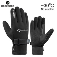 RockBros Winter Windproof Skiing Fleece Keep Warm Ski Snowboarding Gloves Ultra Thick Silica Gel Anti Slip