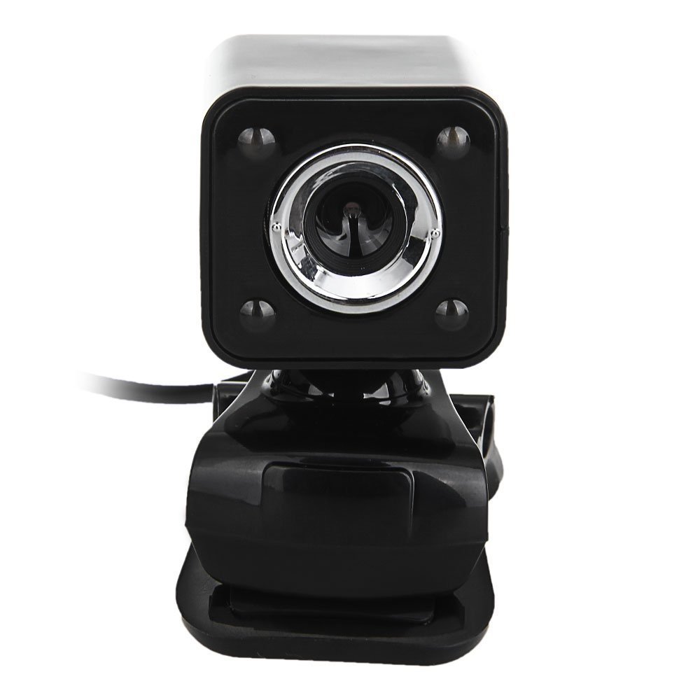 1080P 800W 4 LED HD Webcam Camera + USB 2.0 Microphone for Computer PC Laptop Black rayants c 003 usb 2 0 wired 8 0mp hd webcam w night vision microphone black sliver