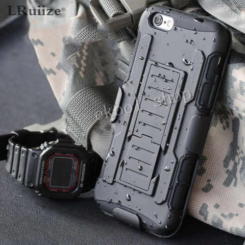 For iphone XS Max Luxury Armor Shockproof Holster Silicone Hard Case For iphone 8 7 6s Plus 5s Cell Phone Shell Cover Bags hoes Pakistan