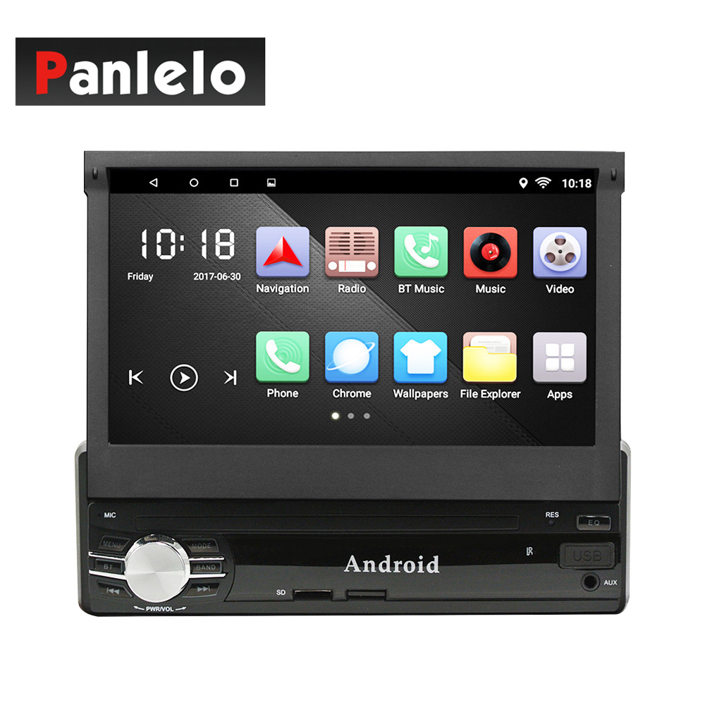 Universal 1 Din Car Radio GPS Android Quad Core Car Styling 7'' Touch Screen 1024*600 Head Unit Bluetooth AM/FM Radio Car Stereo ct0012 android 6 0 car stereo 2 din quad core head unit 7 2gb 16gb car radio touch screen bluetooth wifi fm car gps navigation