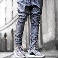 2016 Casual Pantalones de Harén Hombres Pantalones Para Hombre Joggers Sweatpants Justin Bieber Kanye Temor a Dios Mono Ropa Urbana