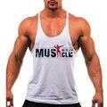Novo 2016 Mens Regatas Musculação Equipamentos de Fitness Tanque Singlets Marca Men \'s Camisas Marca camisa Roupas M-2XL