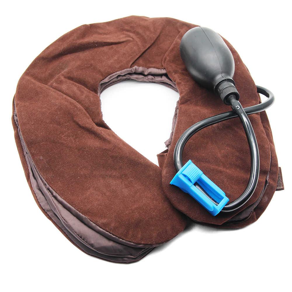 מתנפח אוויר צוואר הרחם צוואר גרירה צוואר עיסוי מתיחת מכשיר כתף כאב הקלה שרירים להירגע צוואר הרחם כרית לעיסוי