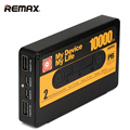 Remax dual usb mobile power banco 10000 mah projeto fita de carregamento rápido powerbank externo portátil móvel carregador de bateria de backup