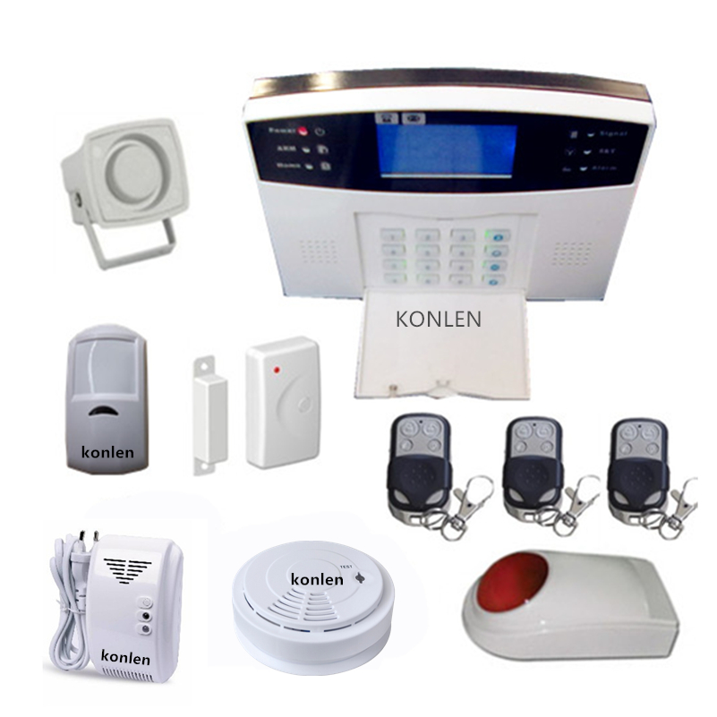 buy dhl free shipping wireless gsm voice alarm home with lcd. Black Bedroom Furniture Sets. Home Design Ideas
