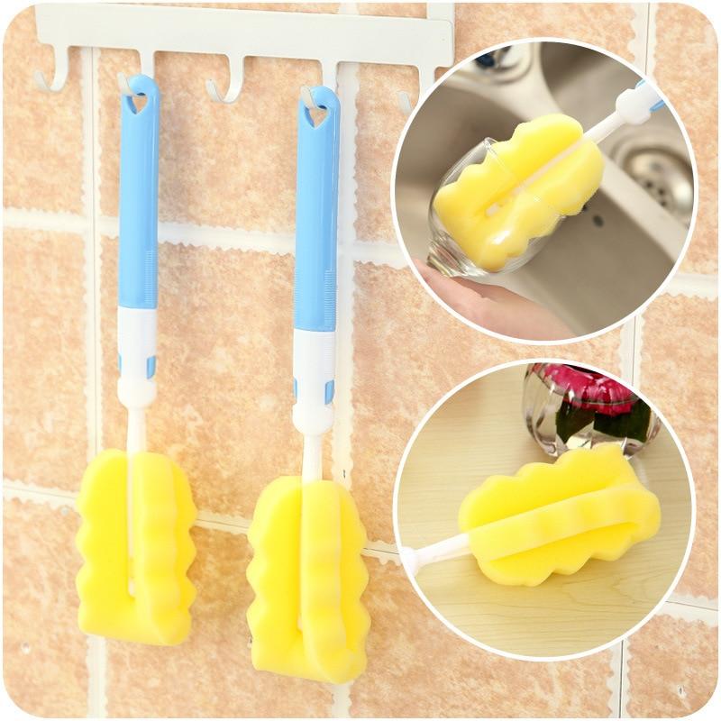 Durable taza botella cepillo de limpieza esponja limpia de limpieza Estropajo de