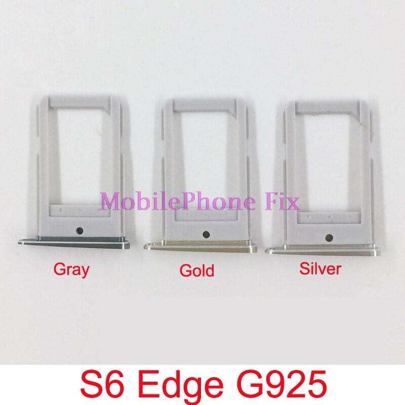 2 PCS Sim Card Tray For Samsung Galaxy S6 Edge G925 Sim Tray Housing Parts Sim Card Tray Slot Holder Repair Parts