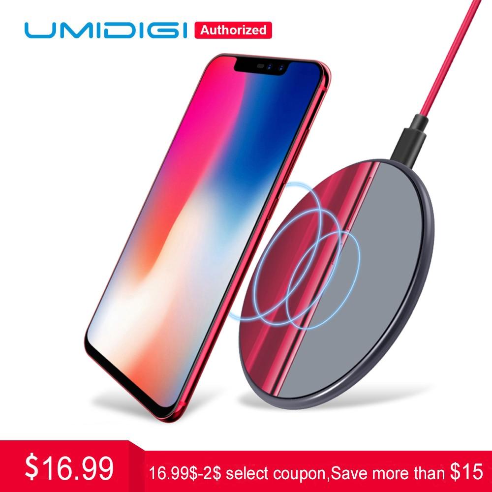 UMIDIGI Q1 Drahtlose schnelle Ladegerät für Z2 Pro Samsung Galaxy S9 S8 S7 Drahtlose Ladegerät für iPhone 8X8 plus Drahtlose Aufladen Pad