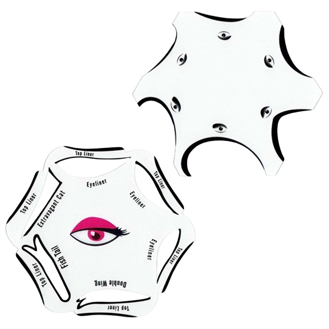 T Make Up Begainner S Perfect 6 In 1 Stencils Eyeliner