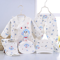 5pcs Set Newborn Baby 0 3M Clothing Set Fall Winter Baby Boy Girl Clothes Cotton
