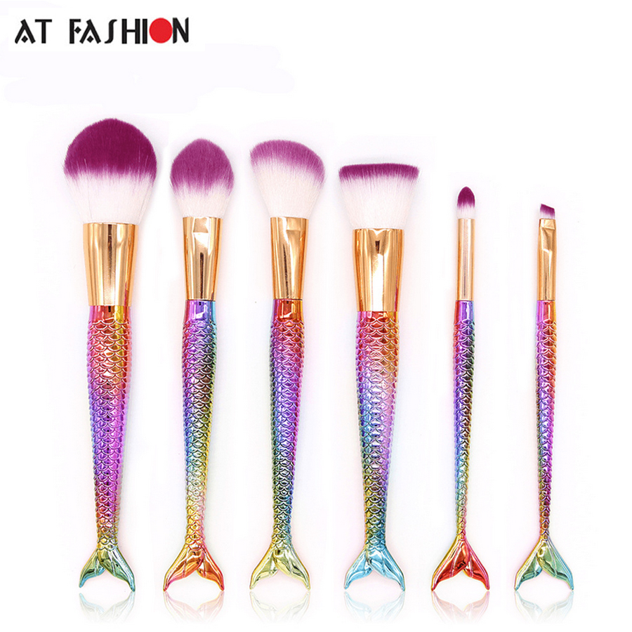6pcs/Set New techniques makeup brushes tools professional beauty eye makeup brushes set high quality real make up brushes