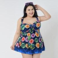 large size 4XL 8XL swimming suit summer dress swimsuit one pieces swimwear sexy women dresses beach bathing suit