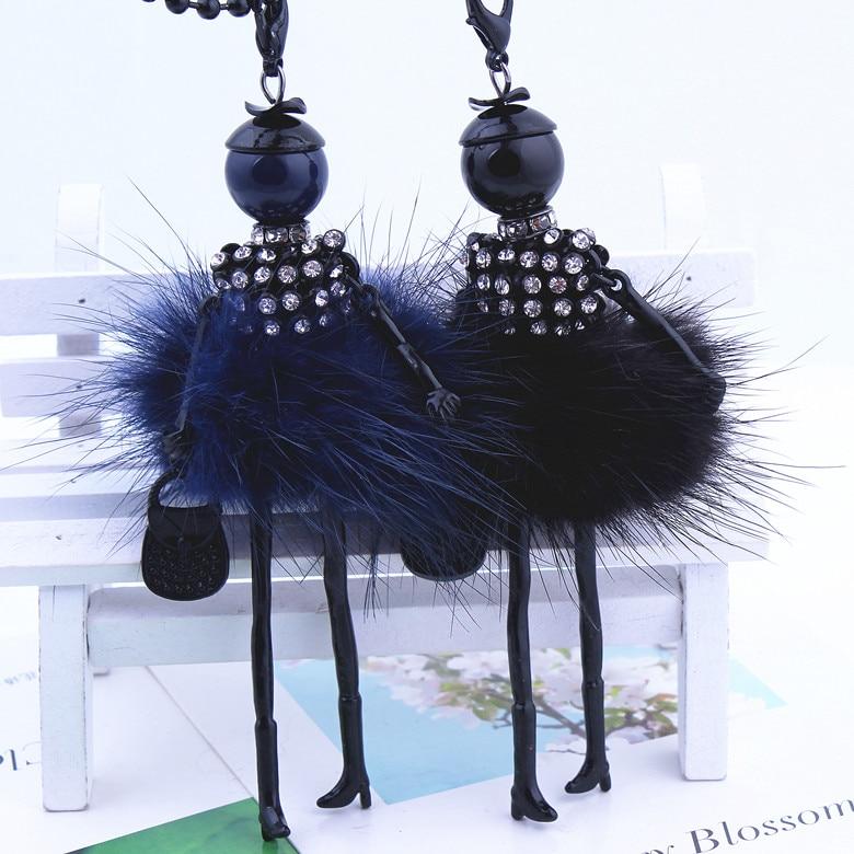 Kobiety naszyjnik z kryształem górskim Piękna sukienka z lalką - Modna biżuteria - Zdjęcie 4
