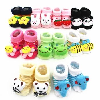 Excellent Quality Baby Girl Foot Socks Funny Happy Socks Newborn Rubber Anti Slip Socks