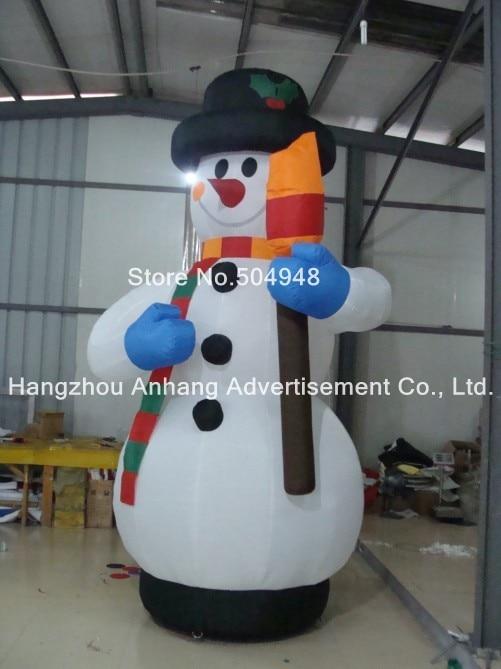 Pequeño muñeco de nieve de Navidad inflable al aire libre