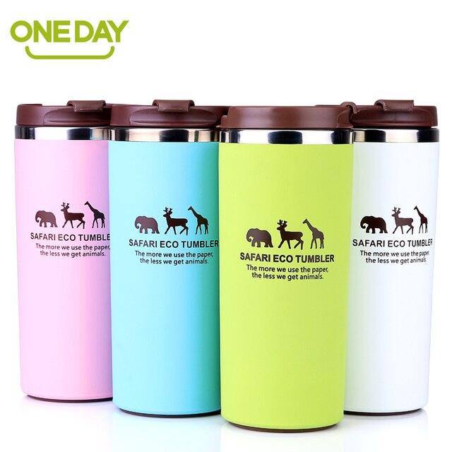 Coffee Mug Cup Stainless Steel Thermo Tea Milk Water Bottle Drinkware Giraffe Mugs
