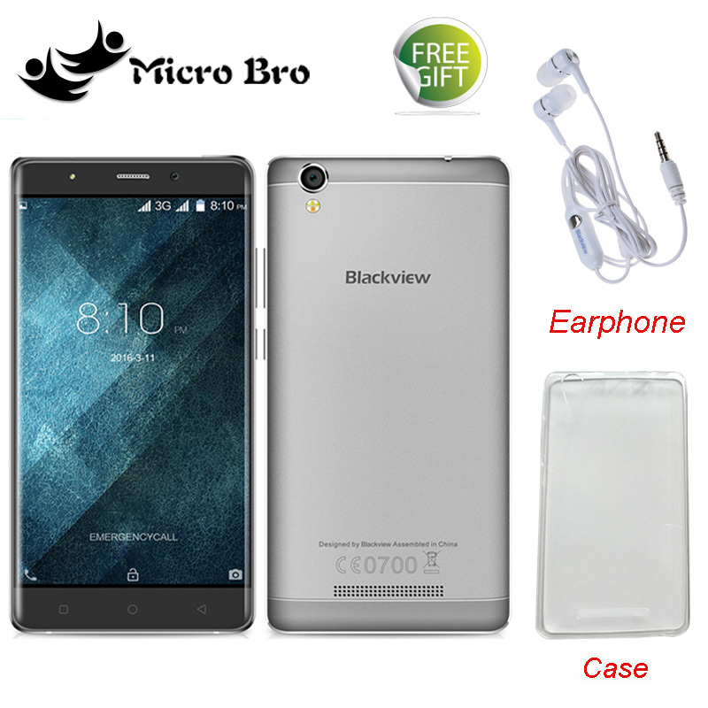 "Case+Earphone Gifts ! Original Blackview A8 MTK6580 5.0"" Quad Core Android 5.1 Mobile Cell Phone 1GB RAM 8GB ROM 8MP WCDMA"