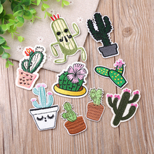 Cactus Patch for Clothing Iron on Embroidered Sew Applique Cute Fabric Badge Garment DIY Apparel Accessories