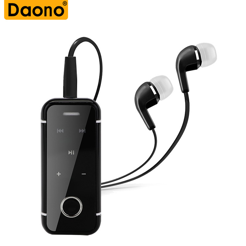 DAONO i6s Bluetooth Earphone Wireless Handsfree Earbuds Headset with Microphone Calls Voice Remind Wear Clip Driver