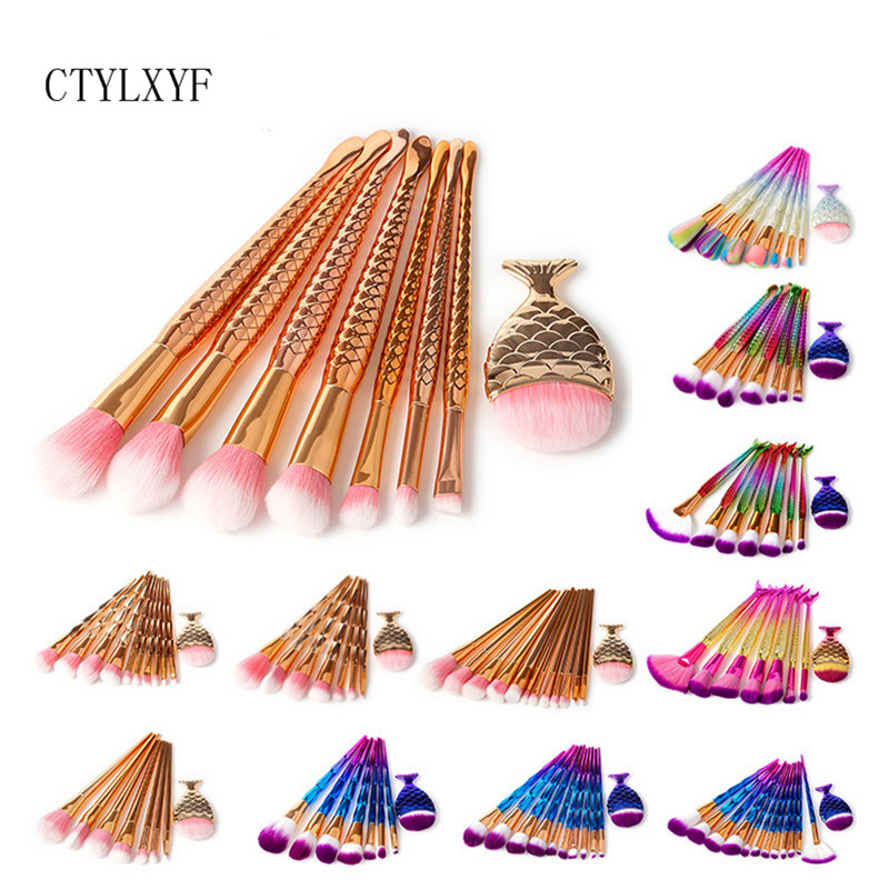 CTYLXYF Colorful Soft Makeup Brushes Set Foundation Power Blush Eye ShadowBlending Make Up Brush Beauty Cosmetic Tool Kits