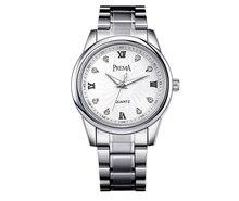 PREMA Parejas reloj de acero inoxidable reloj mujeres de los hombres mira el reloj de metal pulseras