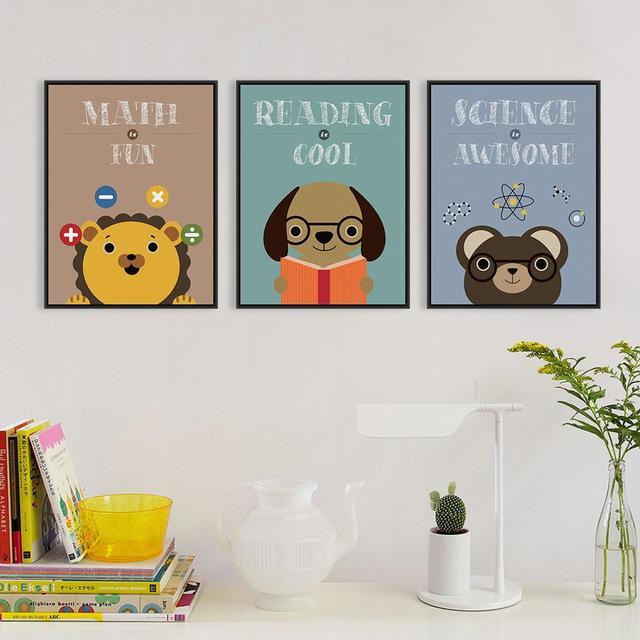 Gute Studie Niedlichen Tier A4 Poster Drucken Zusammenfassung Lion