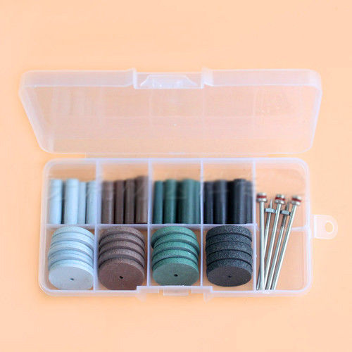 40pcs Dental Beauty Silicone Rubber Polishing Wheel Polisher &5pcs Mandrel Shank ...