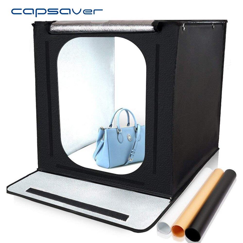 Capsaver F40 40*40 cm boîte à lumière LED Portable pliant Lightbox photographie Studio lumière tente arrière-plans bijoux tir Softbox