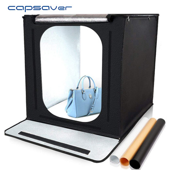 capsaver F40 40*40cm LED Light Box Portable Folding Lightbox Photography Studio Light Tent Backgrounds Jewelry Shooting Softbox
