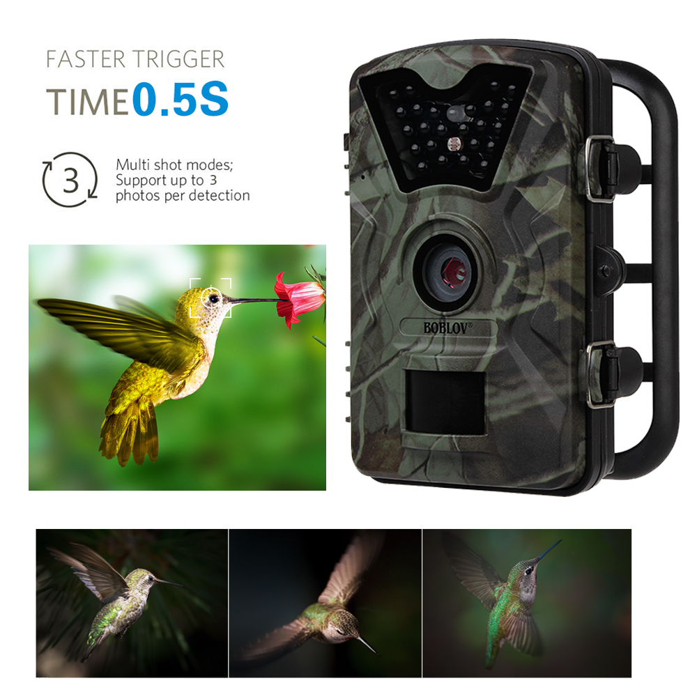 3PCS BOBLOV CT008 Wildlife Trail Photo Trap Hunting Camera 1080P 940NM Waterproof Video Recorder Cameras for Security Farm Fast