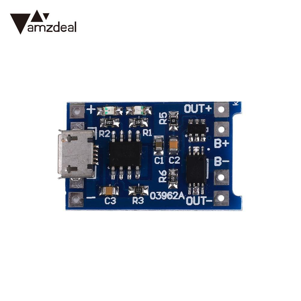 Amzdeal 5pcs Lithium Rechargeable Charger Module Board Module Lithium Battery Plates DIY MICRO USB Port 5V Smart Electronics
