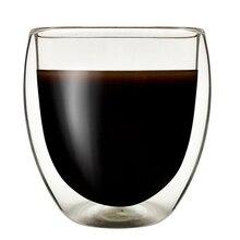 1 шт 200-450 мл Двухстенная боросиликатная стеклянная термостойкая стеклянная кофейная чашка взрывозащищенное стекло с упаковка с героями из мультфильмов