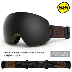 Image 5 - Nandn novo óculos de esqui camadas duplas uv400 anti nevoeiro grande máscara de esqui óculos de snowboard de neve