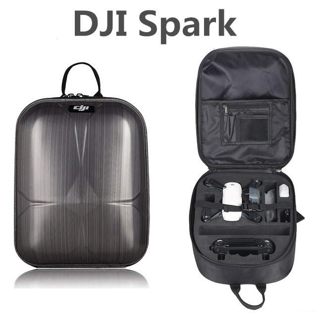 Mini DJI Spark Waterproof Shoulder Bag Carrying Hardshell Backpack Large Capacity Case Storage Spark RC Transmitter Battery