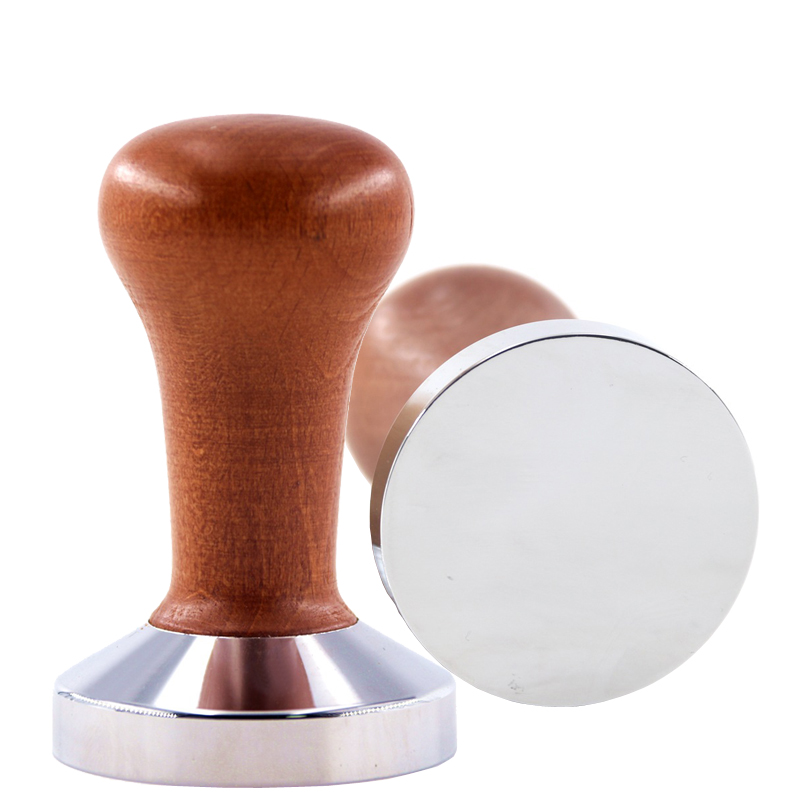 Food Grade 51mm Coffee Tamper Wooden Handle Barista Espresso maker Grinder Handmade High Quality Hot Sale
